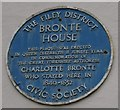 TA1180 : Blue plaque on Bronte Café, Filey by Christopher Hall