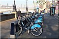 TQ3078 : Public hire bikes, Lambeth by Jim Barton