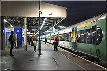 TQ2775 : Clapham Junction station, Platform 13 by Jim Barton