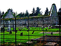 R4460 : Derelict Bunratty Church & Graveyard beyond Steel Rod Fence at South End by Joseph Mischyshyn
