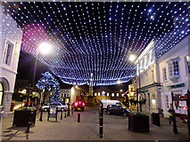 SC2667 : Christmas lights in Castletown square 2013 by Richard Hoare