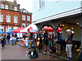 TR0161 : Music in Market Place, Faversham by pam fray