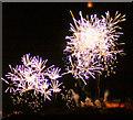 NT2573 : New Year fireworks over Edinburgh Castle by Mike Pennington
