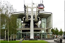 TQ3979 : The Emirates cable car terminal by Steve Daniels