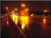 TQ1983 : Abbey Road flyover across the North Circular Road by David Howard