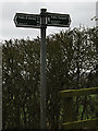 TL3761 : Footpath/bridleway sign on Scotland Road by Adrian Cable