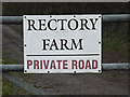TL3761 : Rectory Farm sign by Adrian Cable