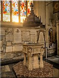 ST7564 : Bath Abbey, Font by David Dixon