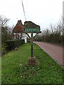 TL3362 : Knapwell Village sign by Geographer