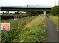 ST3135 : Notices alongside a riverside path, Dunwear by Jaggery