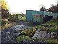 NS3273 : Shed at Port Glasgow Golf Club by Thomas Nugent