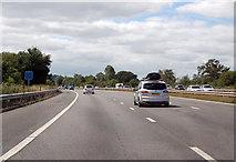 ST0104 : M5  southbound near Westcott by Julian P Guffogg