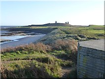NU2422 : Defences old and new at Embleton Bay by Russel Wills