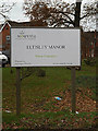 TL2359 : Eltisley Manor sign by Adrian Cable