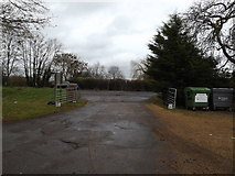 TL2359 : Entrance of Eltisley Manor by Adrian Cable