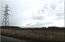 TL2460 : Electricity pylons & electricity wires by Adrian Cable