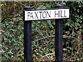 TL2062 : Paxton Hill sign by Adrian Cable