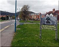 SO7845 : Barnards Green name sign, Malvern by Jaggery