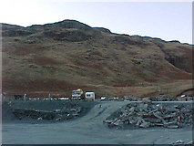 NY2213 : Start of path to Grey Knotts at Honister Hause by Tim Glover