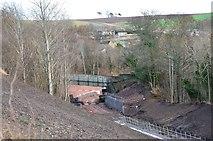 NT3461 : Borders Railway construction, Gorebridge by Jim Barton