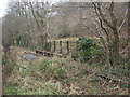 SS9188 : Disused railway at river crossing north of Llangeinor by eswales
