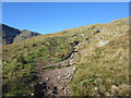 NY2605 : Stony footpath climbing The Band by Graham Robson