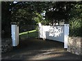 SX9473 : Entrance and gates, Cambrian House, 81 Dawlish Road by Robin Stott