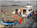 TQ6474 : Disembarking from the Tilbury Ferry by Stephen Craven