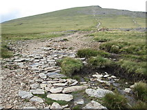 SH6358 : The path leading up Y Garn by Peter S