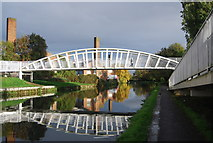 TQ1883 : Footbridge over the Grand Union Canal by N Chadwick