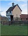 TL3043 : Down Hall Farm: 16th-century gatehouse by John Sutton