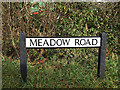 TL2556 : Meadow Road sign by Adrian Cable