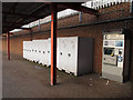 TQ4274 : Ticket machine and cycle lockers, Eltham station by Stephen Craven