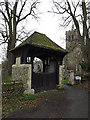 TL2755 : Lych Gate of St Bartholomew's Church by Adrian Cable