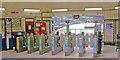 TQ2568 : Morden, London Underground station, ticket barriers by Ben Brooksbank