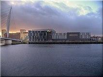 SJ8097 : Manchester Ship Canal, ITV Centre by David Dixon