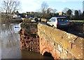 SJ4154 : Farndon Bridge from the English Side by Jeff Buck