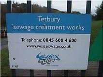 ST8992 : Tetbury Sewage Treatment Works by Paul Best