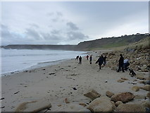 SW3526 : Sennen Beach - midday, Christmas 2013 by Richard Law