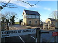 TF1808 : Deeping St James level crossing by Richard Humphrey