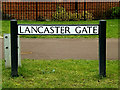 TL3259 : Lancaster Gate sign by Adrian Cable