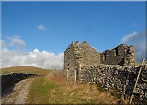 SD8172 : Ruined Barn by the Pennine Way by Anthony Parkes