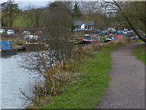 SP6989 : Grand Union Canal and towpath near Foxton Locks by Mat Fascione