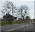 SO7119 : Bare trees in late April, Huntley by Jaggery