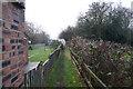 SP3183 : Path off Fivefield Road, Keresley by Ian S