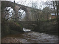 NY5357 : The River Gelt at Middle Gelt Bridge by Karl and Ali