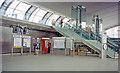 TQ3884 : Stratford station concourse, London Underground Jubilee Line Extension, 1999 by Ben Brooksbank