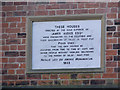 SE6032 : Plaque on the Audus almshouses by Alan Murray-Rust