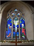 ST9929 : St George, Fovant: stained glass window (I) by Basher Eyre
