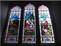 ST9929 : St George, Fovant: stained glass window (II) by Basher Eyre